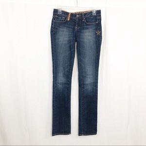 Lucky Brand Zoe Straight Leg Jeans, Size 25, Blue